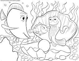 Disneys Finding Nemo Coloring Pages Sheet Free Disney Printable
