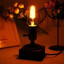 edison table lamp vintage home lighting. Sunix® Loft Vintage T45 Edison Bulb Table Lamp Dimmable Water Pipe Light  Home Bar Decor Edison Table Lamp Vintage Home Lighting J