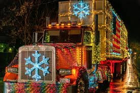 Lighted Tractor Parade Decked Out Trucks Tractors Draw Cheers At Calistogas