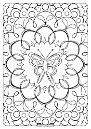 1) if you have javascript enabled you can click the print link in the top half of the page and it will automatically print the coloring page only and ignore the advertising and navigation at the top of. Free Printable Butterfly Adult Coloring Pages