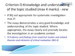 extended essay in psychology ppt video online 15 criterion