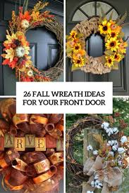 fall front door decorations26 Fall Wreath Ideas For Your Front Door Dcor  Shelterness