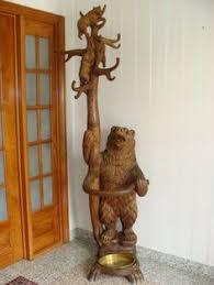 Bear Coat Rack Another Beautiful Black Forest Carved Bear Hall Tree Photo via ebay 5