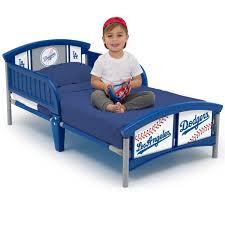 mlb los angeles dodgers plastic toddler bed by delta children com