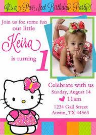 create party invitation free printable hello kitty 1st birthday invitations baptism in