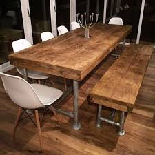 Rustic Dining Table And Bench Entrancing Idea Dining Table With Bench Rustic  Dining Tables