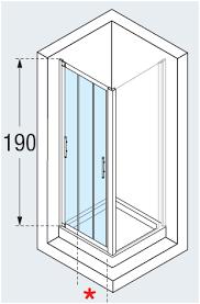 lunes p triple sliding shower door diagram