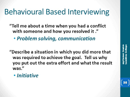 Behavioural Based Interviewing Interviewing Karen Mcclughan Mycareer Centre A218 Ext