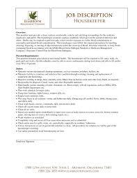 Room Attendant Job Description For Resume Housekeeping Sample