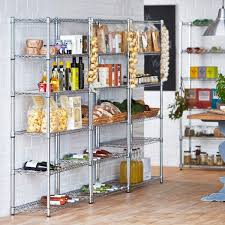 Ultimate Guide to Wire Shelving Kitchen Buying Tips : Awesome 5 Levels  Applied At Contemporary Kitchen