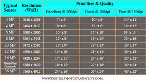 Matter Of Fact Megapixel Print Chart 2019