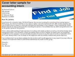 11 Accounting Internship Cover Letters Letter Adress