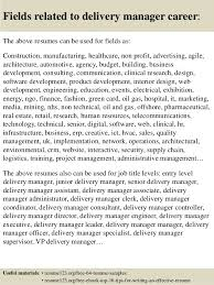 ... 16. Fields related to delivery manager ...