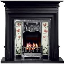 gallery palmerston cast iron fireplace with toulouse cast iron tiled insert fireplaces are us