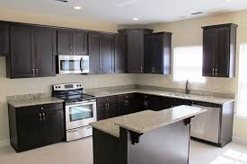Espresso Painted Cabinets Espresso And White Kitchen Cabinets Impressive With Quartz Painted