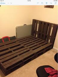 Pallet bed we created! All attached and awaiting a full size ...