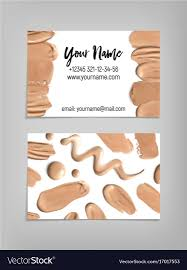 makeup artist business card template royalty free vector with artist