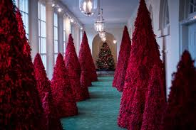melania trump didn t show up to explain her y christmas decorations so what about those red trees