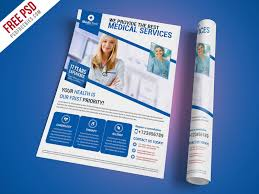 Free Flier Template Medical Services Flyer Template Free Psd Psdfreebies Com