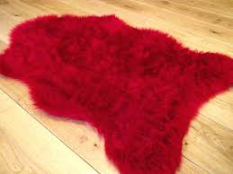 furry bathroom rugs red faux fur rug ruby red rugs fluffy bedroom rug faux fake