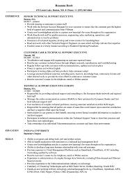 Customer Care Executive Resume Sample Technical Support Executive Resume Samples Velvet Jobs 14
