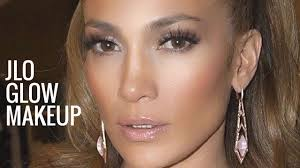 jlo glow makeup jennifer lopez makeup tutorial bronzy glowy makeup