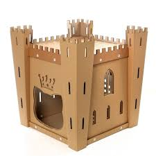 Cat House Cats Fortress Cardboard Cat House Medieval Toy For Your Fluffy
