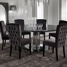 minimalist dining room modern round black dining table contemporary room tables with leaves extension furniture for kitchenette sets glass chairs square