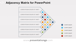 How To Make Adjacency Matrix Interior Design Adjacency Matrix Diagram For Powerpoint Presentationgo Com