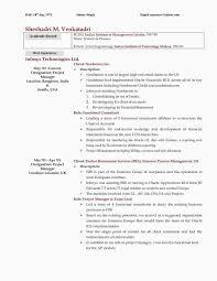 Resumes Outline Sample Resume In Outline Format Resume Format Example