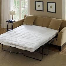 black foam mattress topper. Photo 1 Of 7 Light Brown Color Microfiber Sleeper Sofa With White Foam Mattress Topper Queen Black Metal Frame E