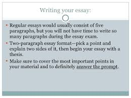 in class essays exams 19