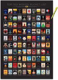 Imdb Chart Top Tv An Interactive Imdb Top 100 Movies Bucket List Poster