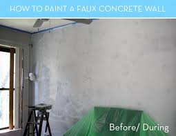 painting concrete wallsHow to Paint a Faux Concrete Wall that Looks like the Real Thing