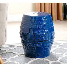 navy blue garden stool lion navy blue green ceramic garden stool