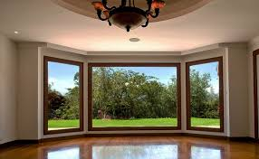 home interior with glass walls window