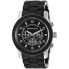 michael kors men s mk8107 runway black silicone chronograph watch michael kors men s mk8107 runway black silicone chronograph watch