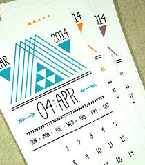 lines triangles arrows printable desk calendar instant 2016 2016 pdf monthly planner handdrawn
