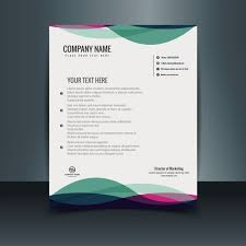 Colorful Letterhead Template Vector Free Download