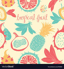Fruit Pattern Classy Tropical Fruit Pattern Royalty Free Vector Image