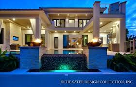 sater house plans gas powered accent fire pots add drama to the pool and patio area