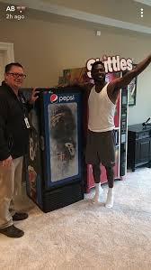 Antonio Brown Skittles Vending Machine Interesting Kevin Boilard On Twitter Steelers WR Antonio Brown Now Has Pepsi