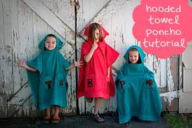 kids hooded beach towels. Hooded Towel Poncho Tutorial Kids Beach Towels E