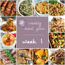 weekly meal planning for two weekly meal plan week 1 table for two