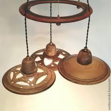 lamps handmade livemaster handmade ceramic chandelier with three shades wind of