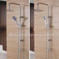 dual shower head. Large Chrome Dual Mixer Adjustable Thin Shower Heads Riser Kit Bathroom Set UK Head E