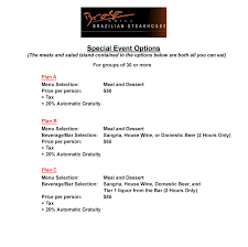 hosting an event here to see our special event menu