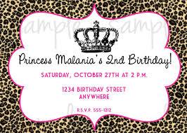 Cheetah Print Birthday Invitation Templates Fwauk Com