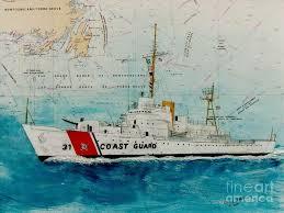 Paintings On Nautical Charts Amazing Coast Guard Cutter Paintings Fine Art America