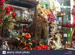 Decorations In Spain Christmas Decorations And Flowers In A Shop Window Fuengirola